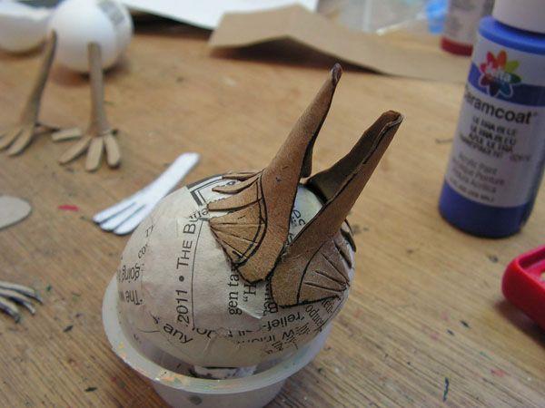 Papier Mache - Tutorials - A Cartonnage Bird- egg base
