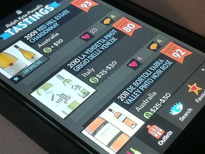Wine Listing #UI #app #design #UX #interface