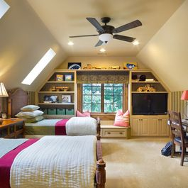 Kid bedroom over garage design ideas pictures remodel for Room over garage design ideas