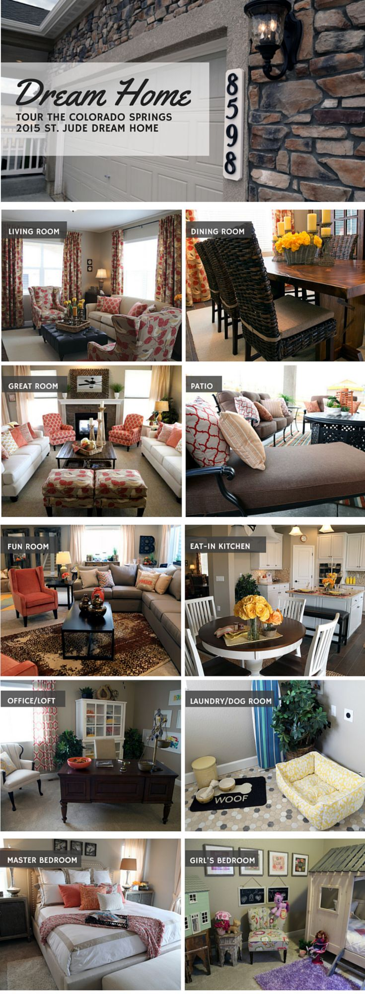 HOME TOUR: Step Inside The 2015 Colorado Springs St. Jude Dream Home  Furnished By