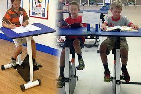 Hiperatividade e Déficit de Atenção - Escola canadense oferece mesas-bicicleta para crianças