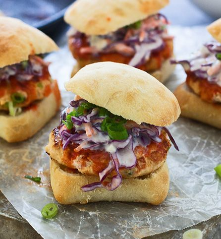 Created by: Nicole Leggio, Cooking for Keeps Enjoy great buffalo flavor in a better-for-you turkey burger! Made with plenty of diced carrot, celery, onion, garlic and (of course) buffalo sauce, these burgers are a game day favorite.