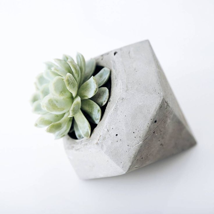 Our diamond cement pot plant holder: The side 2/3