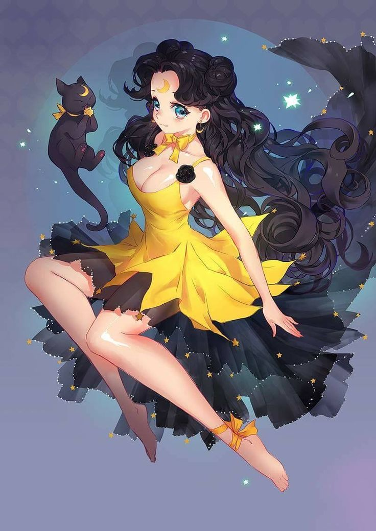 Human form Luna and cat form | Sailor Moon 3 | Pinterest | Sailor ...