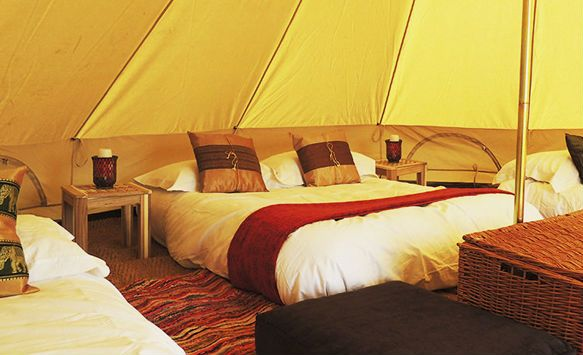 Oak Retreat Lodge, Suffolk  All inclusive glamping in a bell tent
