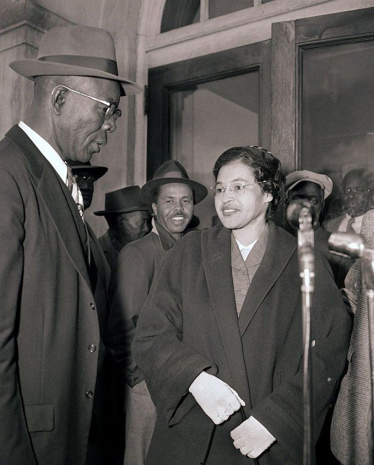 """ROSA PARKS /& MARTIN LUTHER KING 1955 CIVIL RIGHTS 8x10/"""" HAND COLOR TINTED PHOTO"""