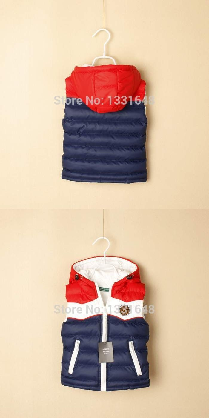 Retail top quality brand new fashion coat baby/children/kids vest & waistcoats cotton boys autumn winter hooded jacket