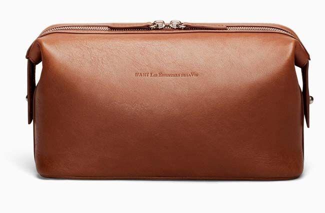 WANT Les Essentials de La Vie – Kenyatta Leather Dopp Kit