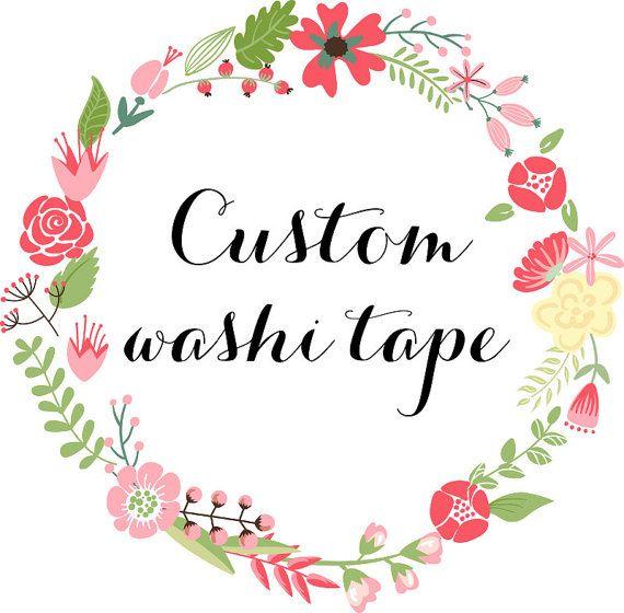 Custom Washi Tape 600 Rolls Deposit Wholesale by chickydoddle