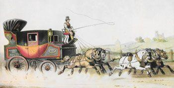 TAV. XVII: Il servizio postale di St.Etienne, 1846. Tratto da: Il Postiglione nella storia e nell'arte. COLL: 1.A.42.