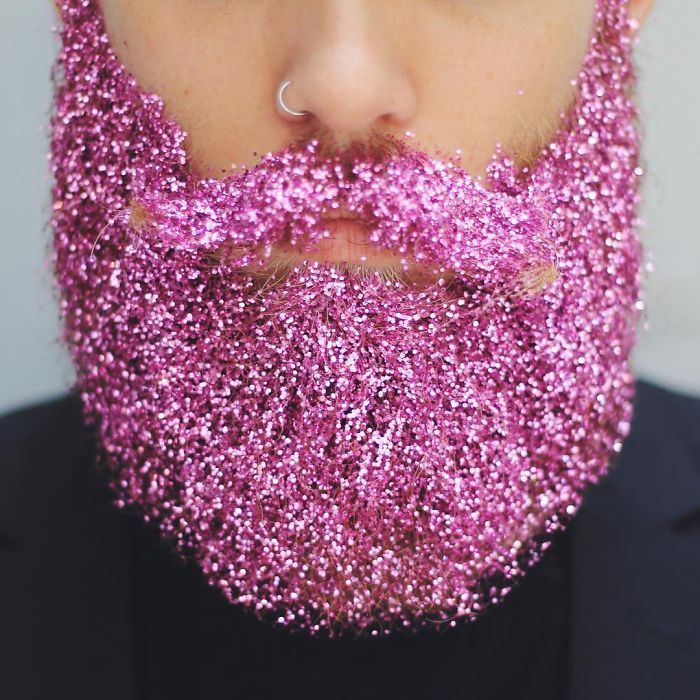 Men Are Covering Their Beards In Glitter Just In Time For The ...