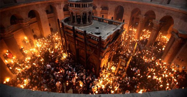 Holy Fire, Holy Sepulchre, Holy Saturday