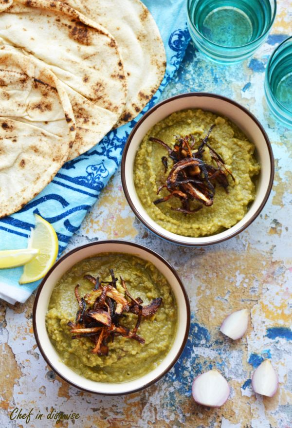 Bessara- a wonderful Egyptian dip made out of fava beans and herbs, so simple to make yet so tasty