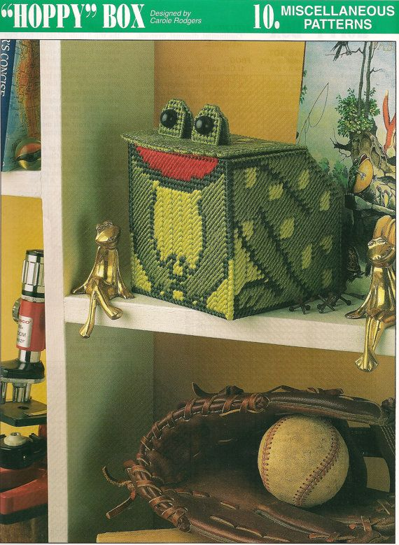 Frog Box Plastic Canvas Pattern by needlecraftsupershop on Etsy, $3.00