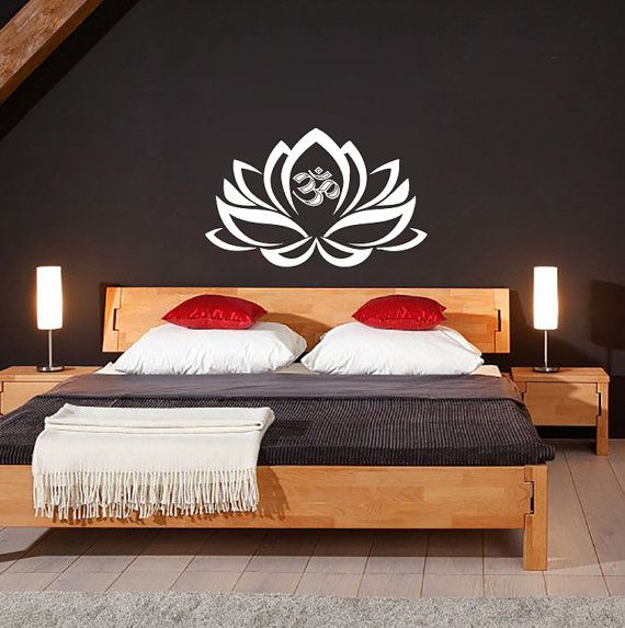 Hey, I found this really awesome Etsy listing at https://www.etsy.com/listing/187271372/lotus-flower-with-om-sign-yoga-wall