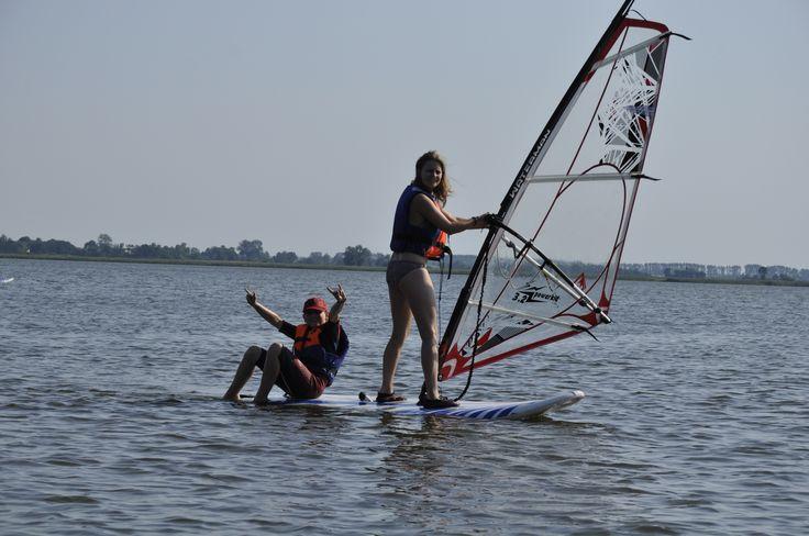 Obozy windsurfingowe - nauka surfowania i inne aktywności :)  #sport #windsurfing #jezioro #zabawa