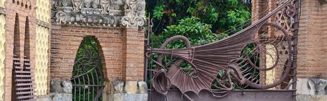 Pavellons Guell, Barcelone - Catalogne (Espagne)