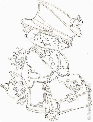 Картина панно рисунок Начало учебного года Вырезание Дети в школу собирайтесь Бумага фото 9