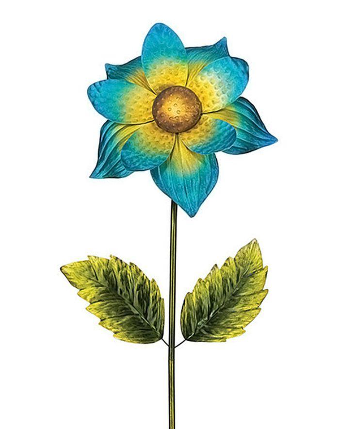 Blue U0026 Yellow Giant Flower Stake By Regal Art U0026 Gift