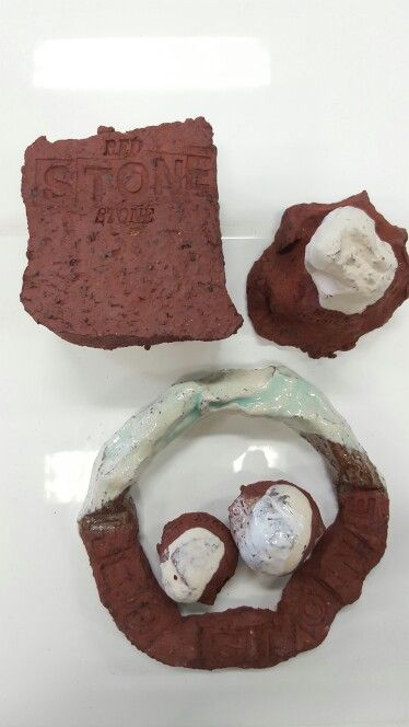 Red stone clay
