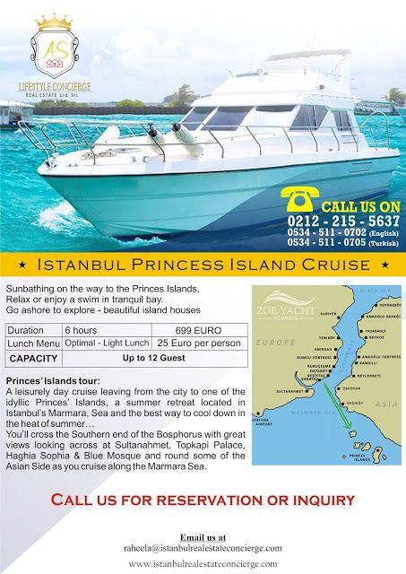 AS Lifestyle Concierge and Real Estate Services Ltd. Sti.: Istanbul Princess Island Cruise
