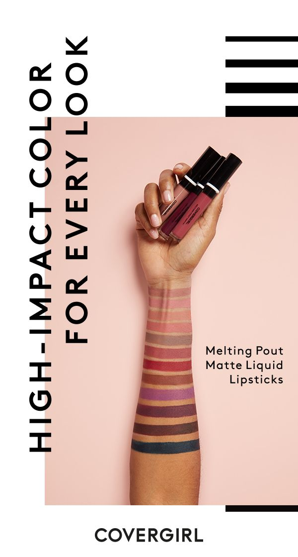 What's it going to be – Gray Matter, Champagne Showers, Coral Chronicles? No matter which shade of Melting Pout Mattes you choose, you can count on a high-impact, super rich color. Discover your perfect pout with COVERGIRL.