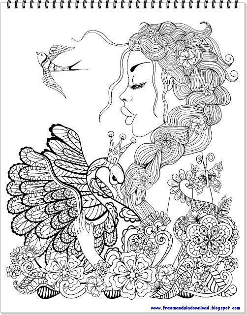 Schöner Schwan Mandala-2 | drawings | Coloring pages ...