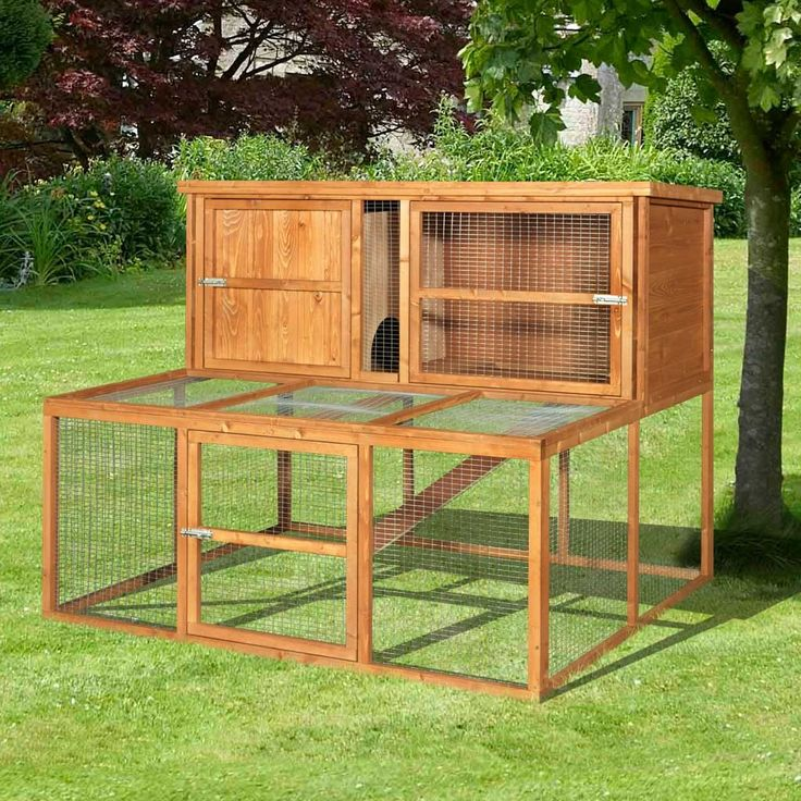 Extra large rabbit hutch plans woodworking projects plans for Rabbit hutch designs