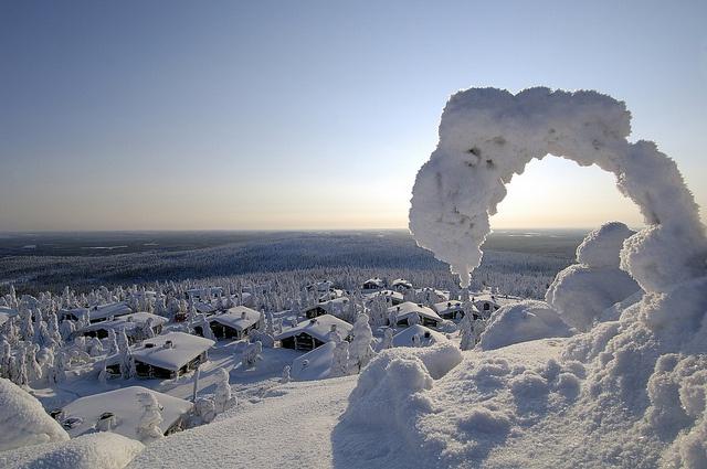 White winter in Levi, Finnish Lapland by Visit Finland, via Flickr.  Cabins and activities in Saariselkä http://www.saariselka.com