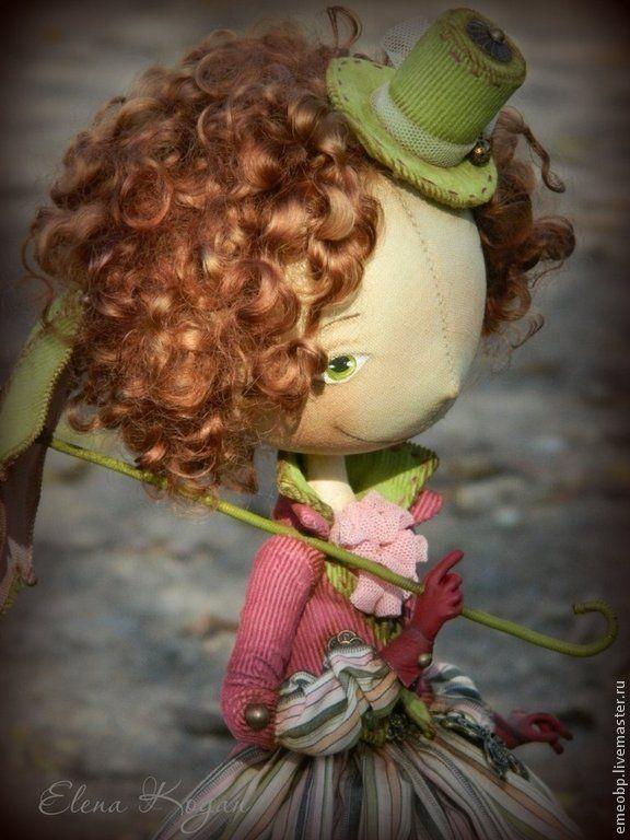 Джейн - авторская кукла,джейн,велосипед,елена коган,куклы елены коган