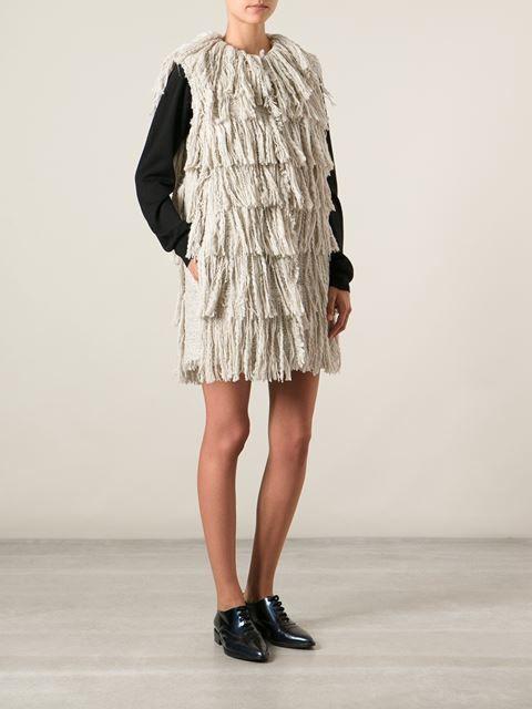 Lanvin Fringed Knit Cardi-coat