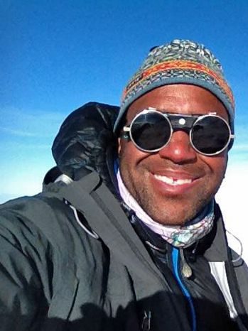 During training camp for Expedition Denali, the first solely African American team to the summit the Alaskan mountain, James Mills (The Joy Trip Project) came up against an obstacle he was unprepared for: an old hip injury... 'Titanium Adventure' By, Andes Hruby (photo: James on the summit of Mount Baker)
