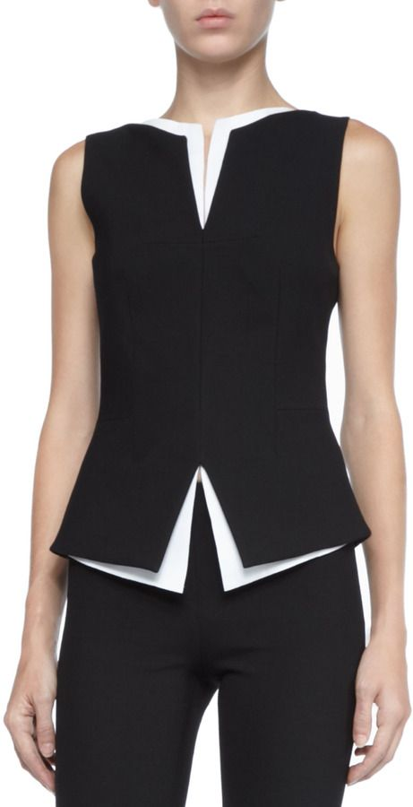Robert Rodriguez Two-Tone Layered Top on shopstyle.com