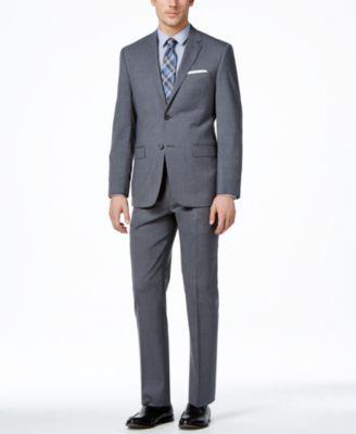 Lauren Ralph Lauren Medium Grey Solid Slim-Fit Suit Separates