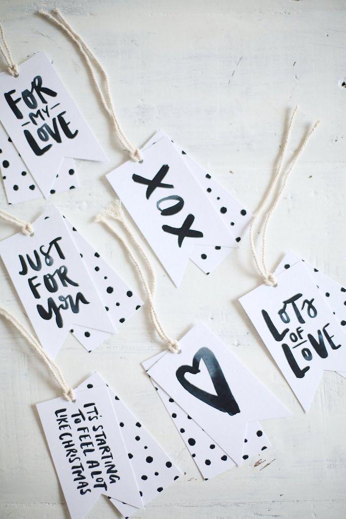 Free printable gift tags ♥