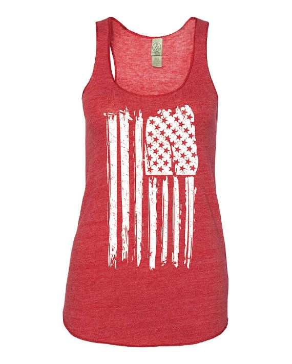Patriotic Tank. Patriotic Shirt. American Flag Tank Top. American Flag Shirt. Stars and Stripes. Red White and Blue. Girls Weekend. July 4th