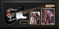 Joe Perry Signed Guitar & Steven Tyler Signed Photo.