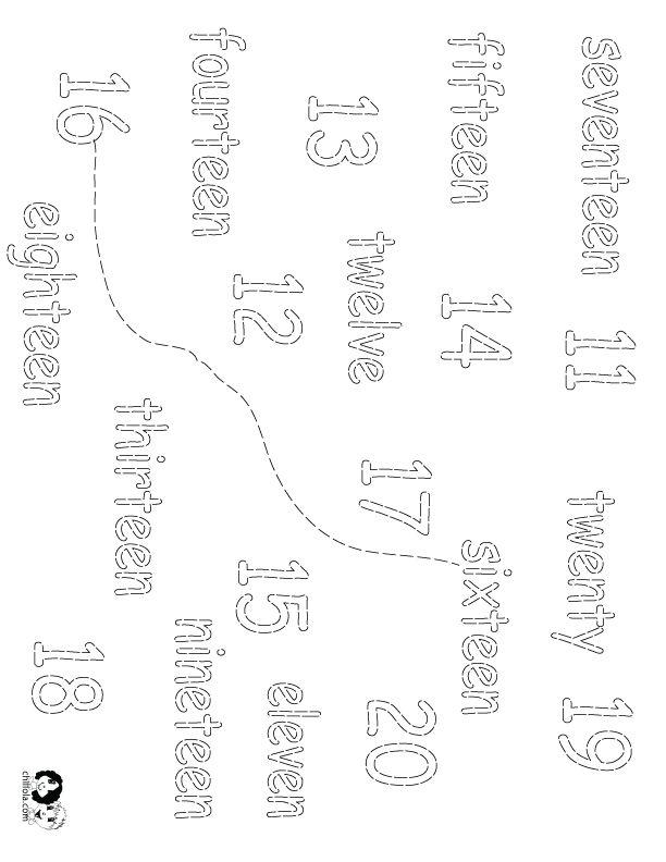 numbers worksheet english