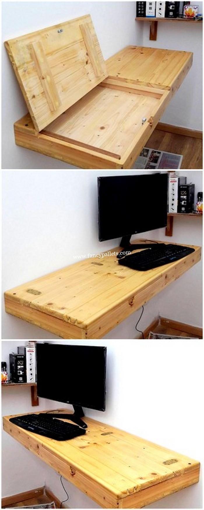 Attractive Diy Pallets Pc Desk Ideas Diy Furniture Easy Pallet Diy Diy Pallet Furniture