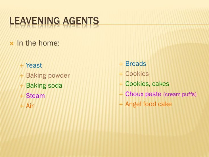 Image result for leavening agents in baking | Baking chart ...