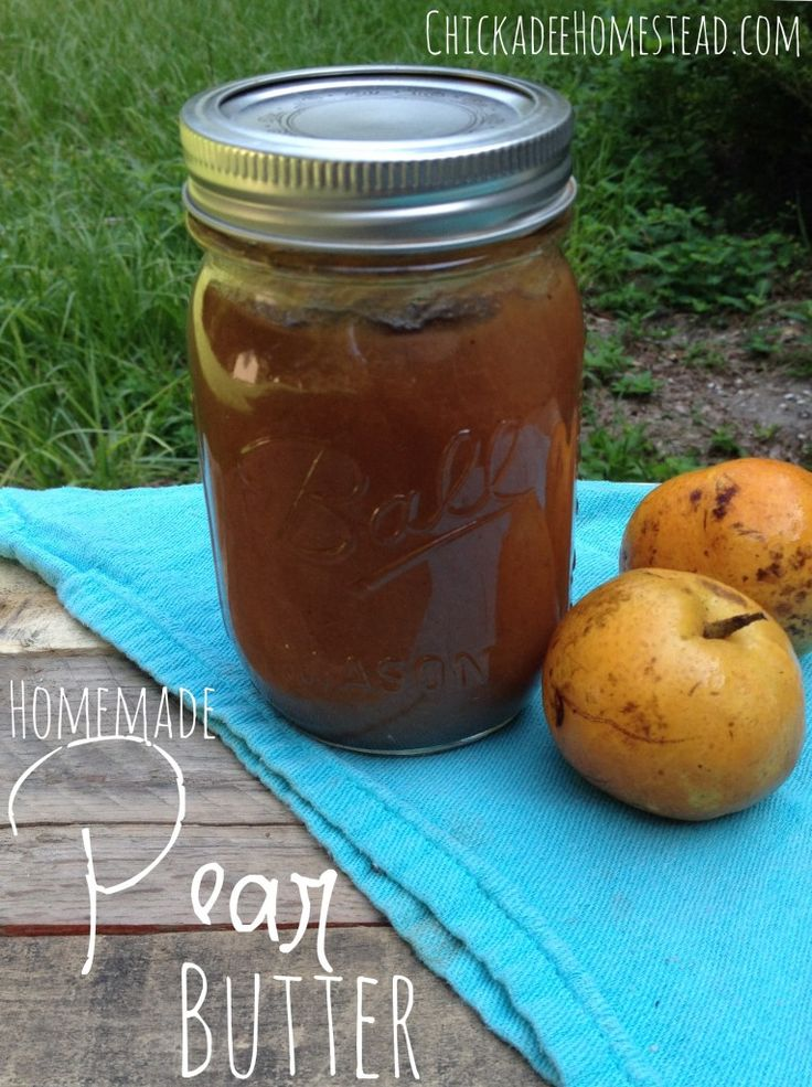 Homemade Pear Butter | Chickadee Homestead (.com)