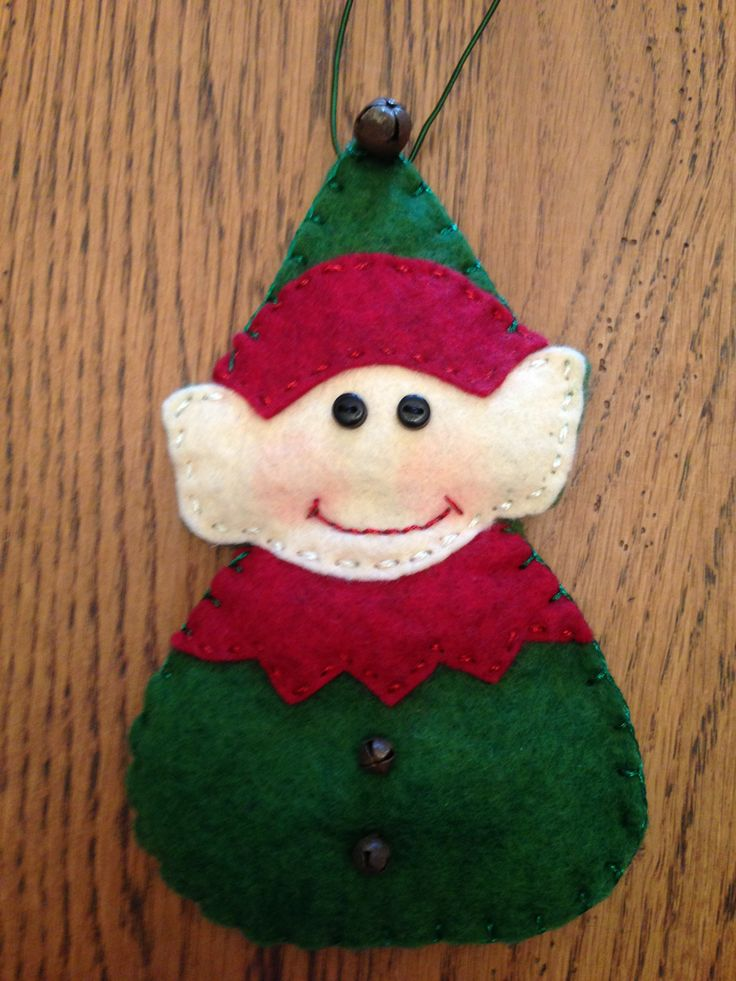 17 best images about christmas ornaments on pinterest for Easy christmas felt crafts