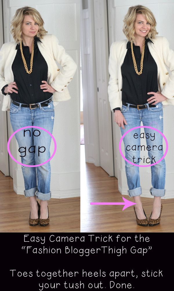 Thigh Gap?  Try this camera pose!