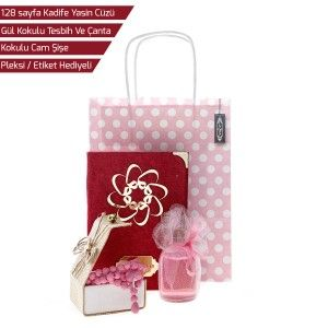 Kıvanç Mevlid Paketi (Kadife Yasin, Tesbih, Kağıt Çanta, Kokulu Cam Şişe)