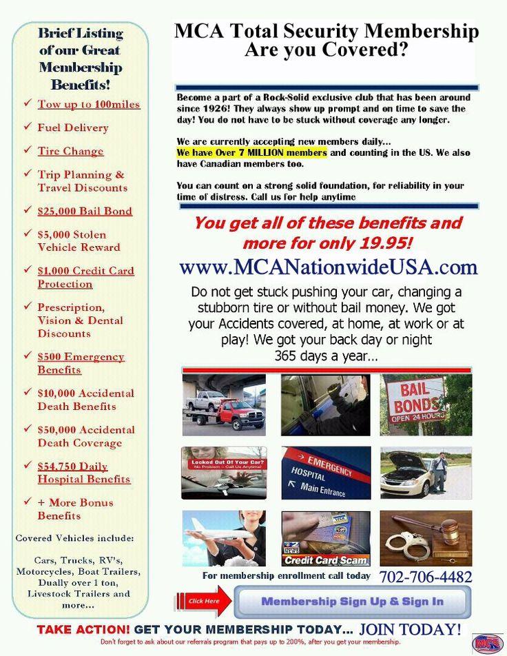 MCA Nationwide USA way better than AAA Roadside service