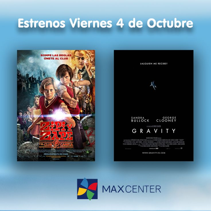 """Hoy en Max Center además de divertiros en nuestro evento MILKA, también podréis disfrutar de los #estrenos en nuestros #cines. Para hoy os recomendamos: """"Zipi y Zape y el club de la canica"""" con la que podrá disfrutar toda la familia y """"Gravity"""" un thriller ambientado en el espacio protagonizado por George Clooney y Sandra Bullock."""