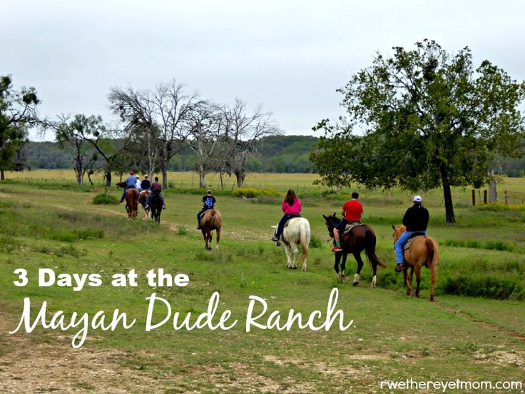 The Mayan Dude Ranch in Bandera, Texas is a perfect family vacation - horseback riding, wagon rides, swimming, archery, chuck wagon meals, and more.