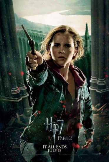 11x17 Inch Harry Potter and The Deathly Hallows Part 2 Movie Poster features Hermione Granger, wand raised and ready to cast a spell in the battle of Hogwarts. Get it now at http://harrypottermovieposters.com/product/harry-potter-and-the-deathly-hallows-part-2-movie-poster-style-s-11x17-inch-mini-poster/