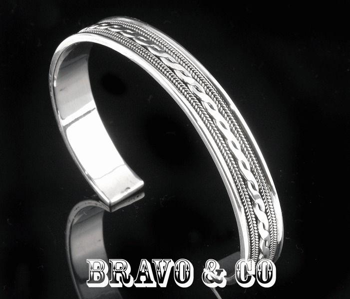 2SB-181 Hallmark 925 Solid Sterling Silver Cuff Wristband Bangle New Bracelet