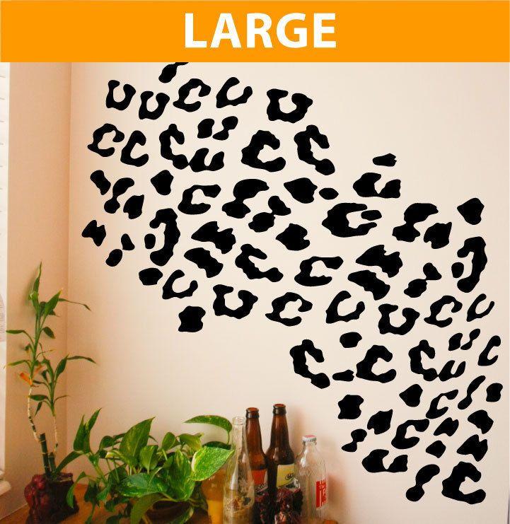 Leopard Spots 80 Piece Set Wall Vinyl Decal Bedroom Medium Wall Decal Home  2057 Part 35